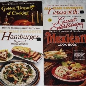 Better Homes and Gardens lot of 5 vintage cookbook
